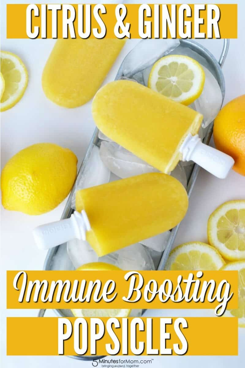 Citrus and Ginger Immune Boosting Popsicles