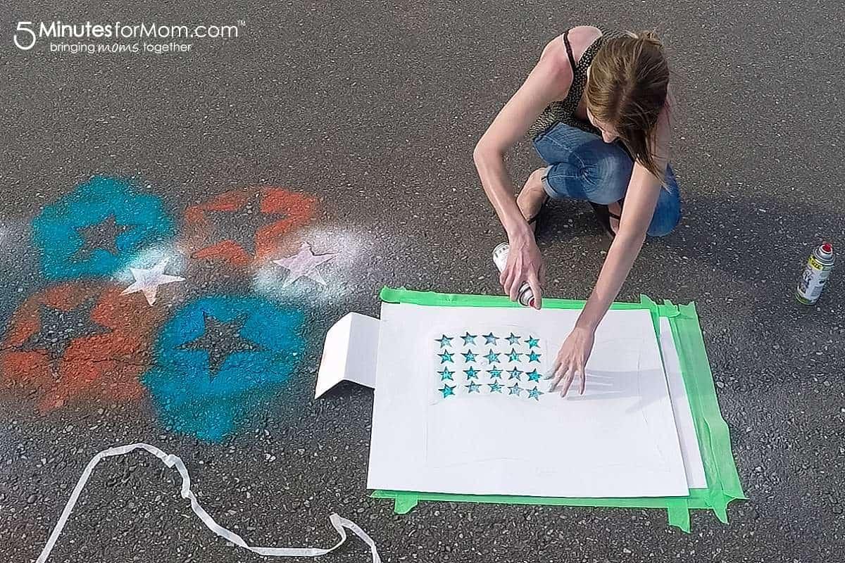 Spray Chalk Photography American Flag template