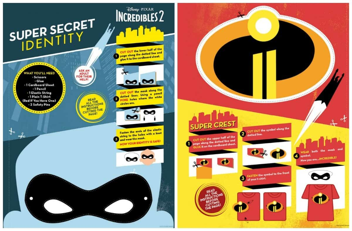 Incredibles Mask and Crest