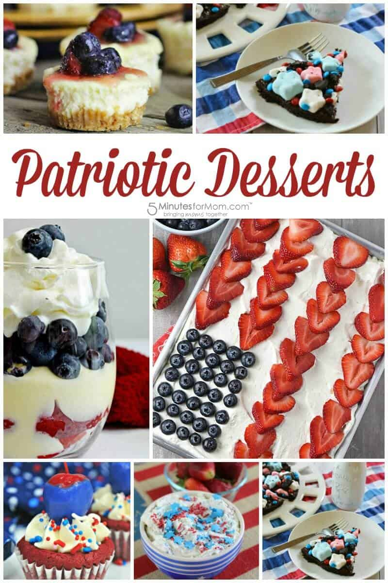 Patriotic Desserts - Red White and Blue Dessert Recipes