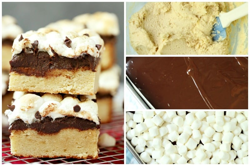 Smores Blondies Dessert Bars