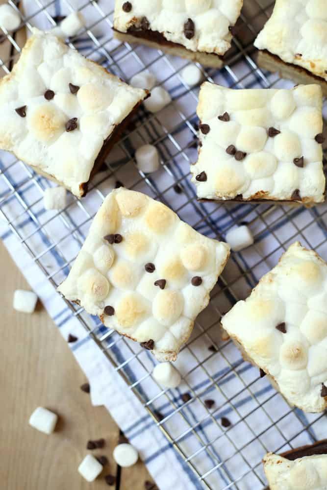 S'mores Blondies Recipe - Cookie Bars