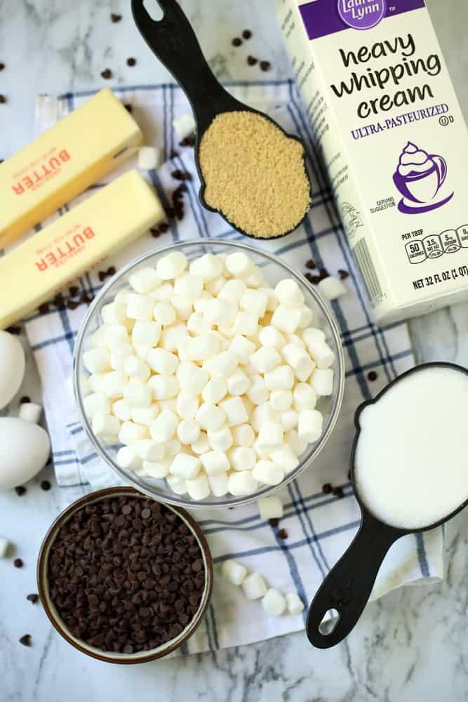 S'mores Blondies Recipe Ingredients