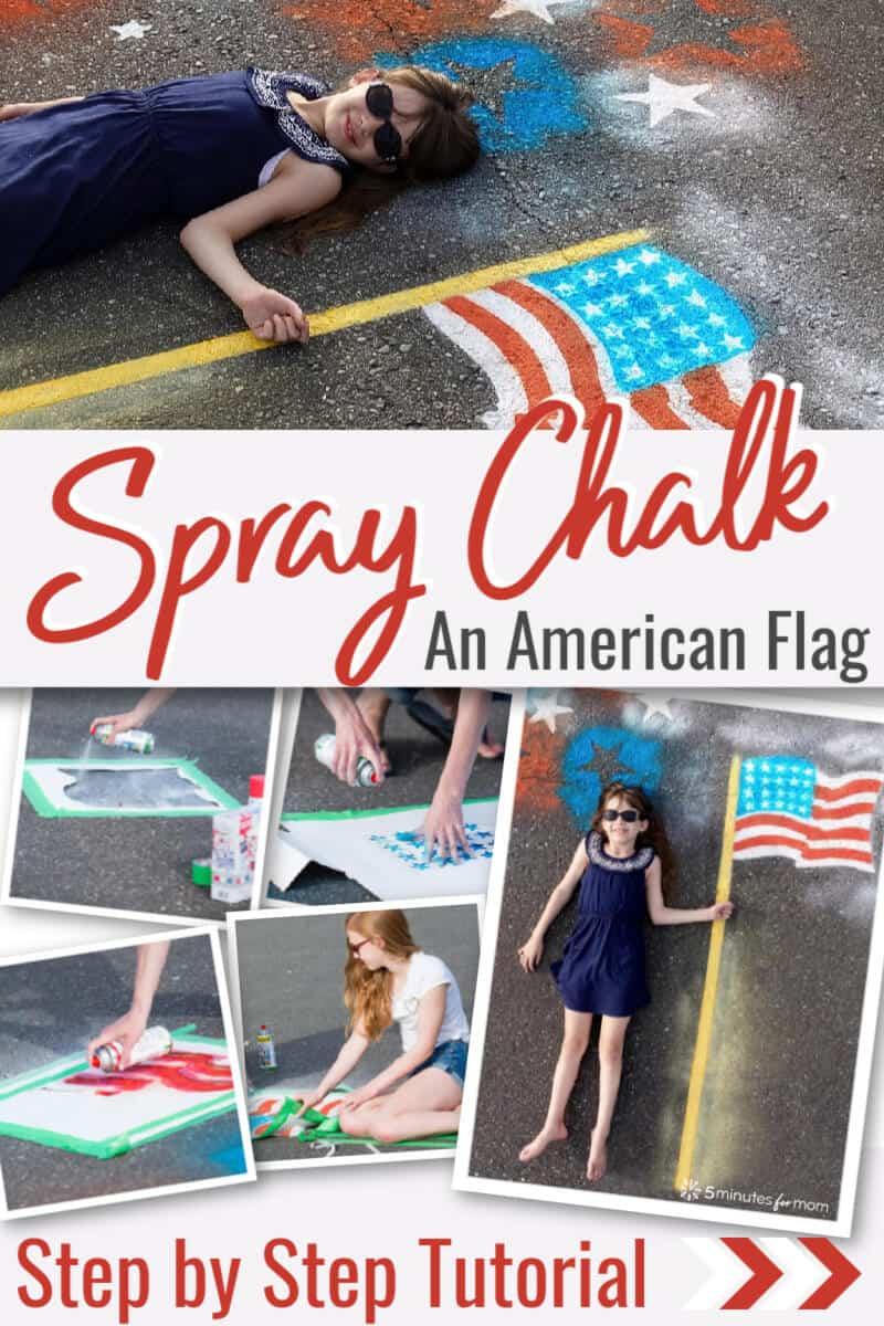 Spray Chalk American Flag Tutorial