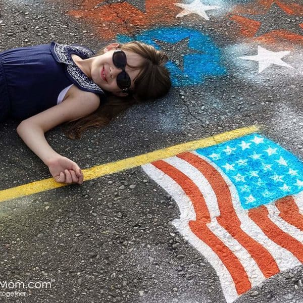 How to Spray Chalk An American Flag