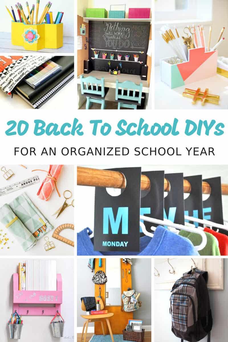 20 Back to School DIYs for an Organized School Year