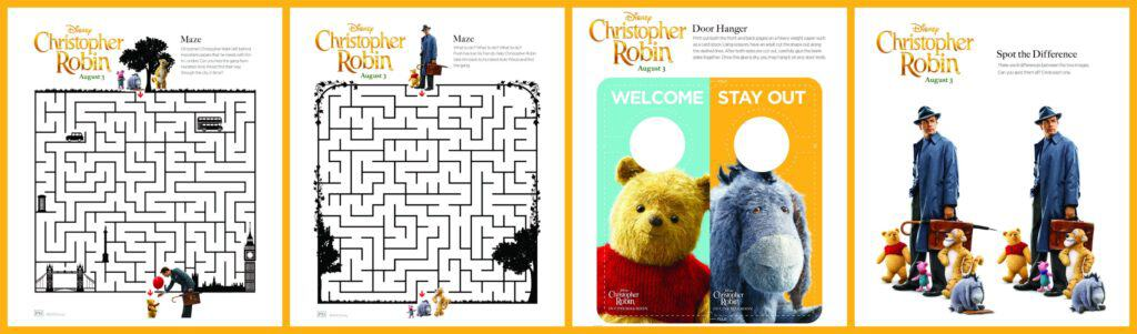 """Christopher Robin"" Activity Sheets"