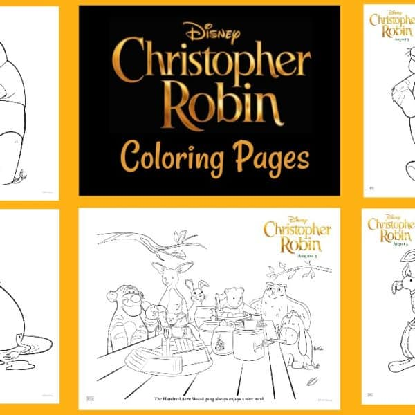 """Christopher Robin"" Printables – Coloring Pages and Activity Sheets"