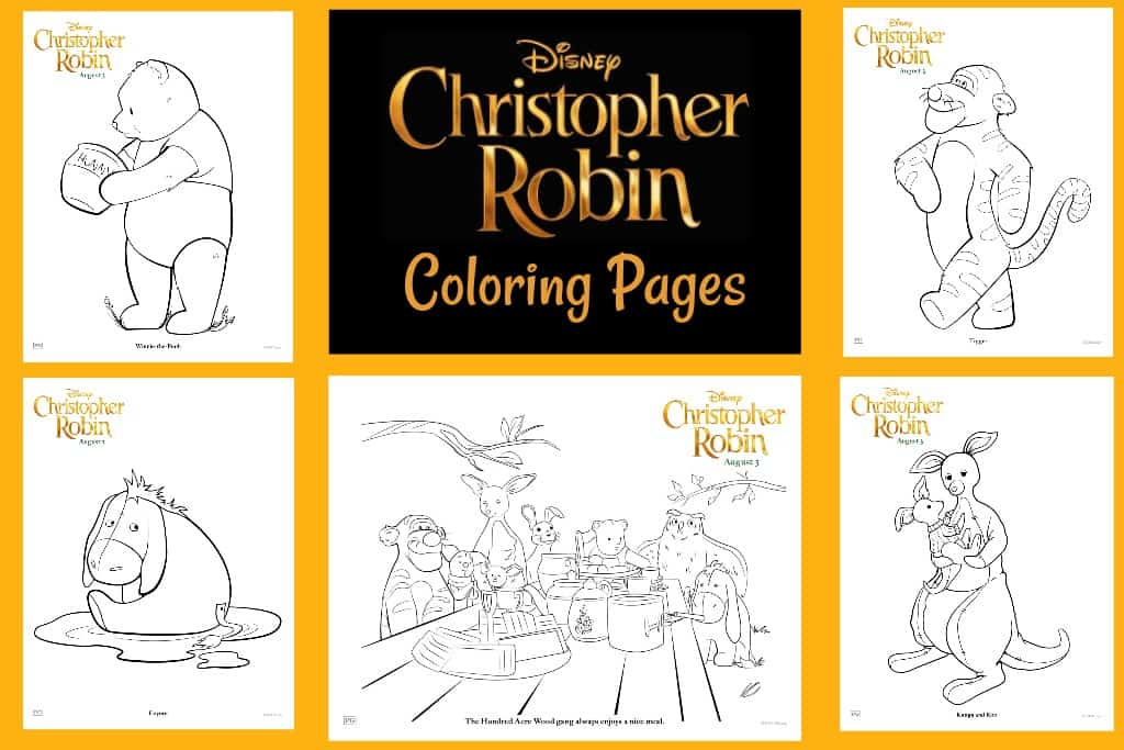 Christopher Robin Printables Coloring Pages And Activity Sheets