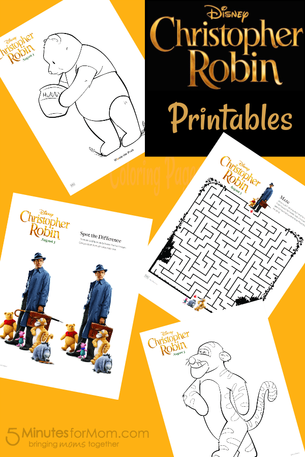 Christopher Robin Printables