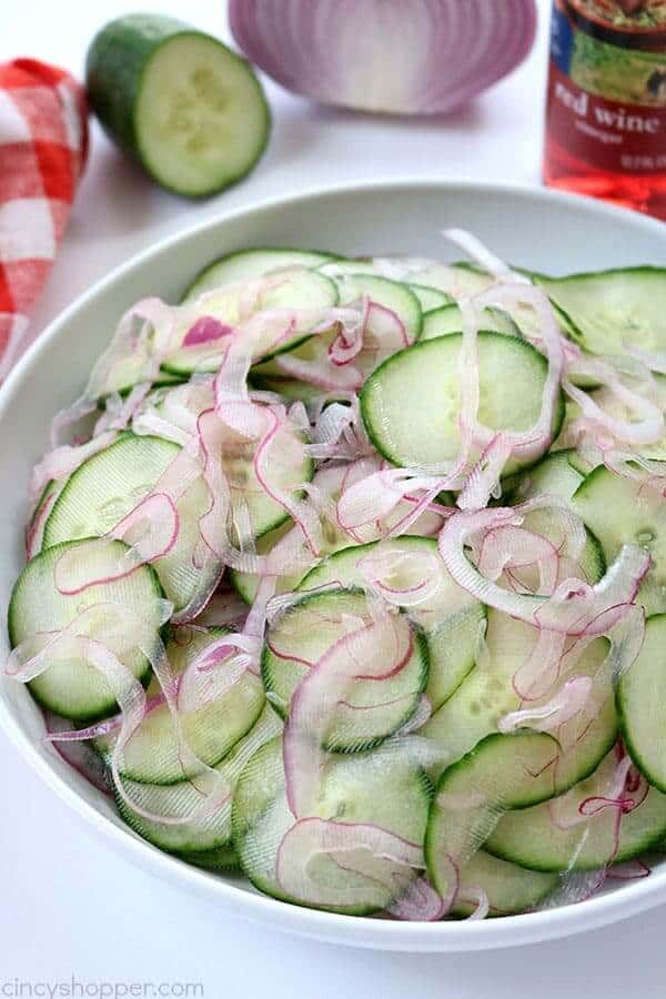 Cucumber and Onion Salad from Cincy Shopper