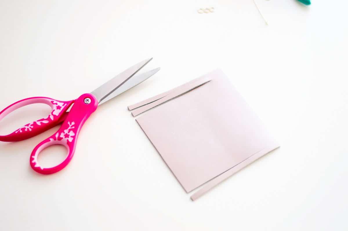 Making a DIY Tassel Keychain - Cut the tassels