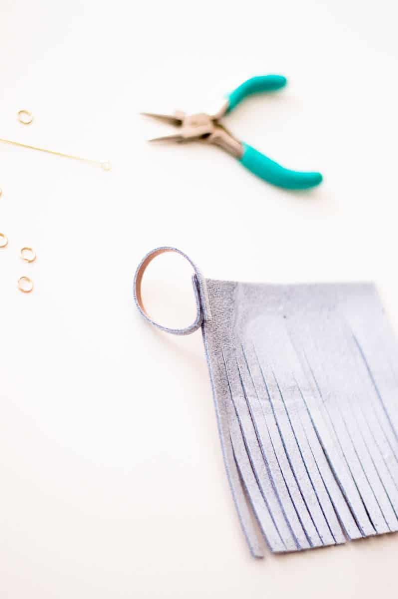 Making a DIY Tassel Keychain