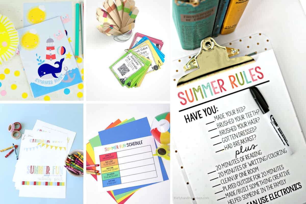 Free Summer Printables - Collection 1