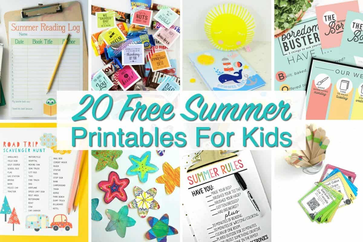 Free Summer Printables For Kids