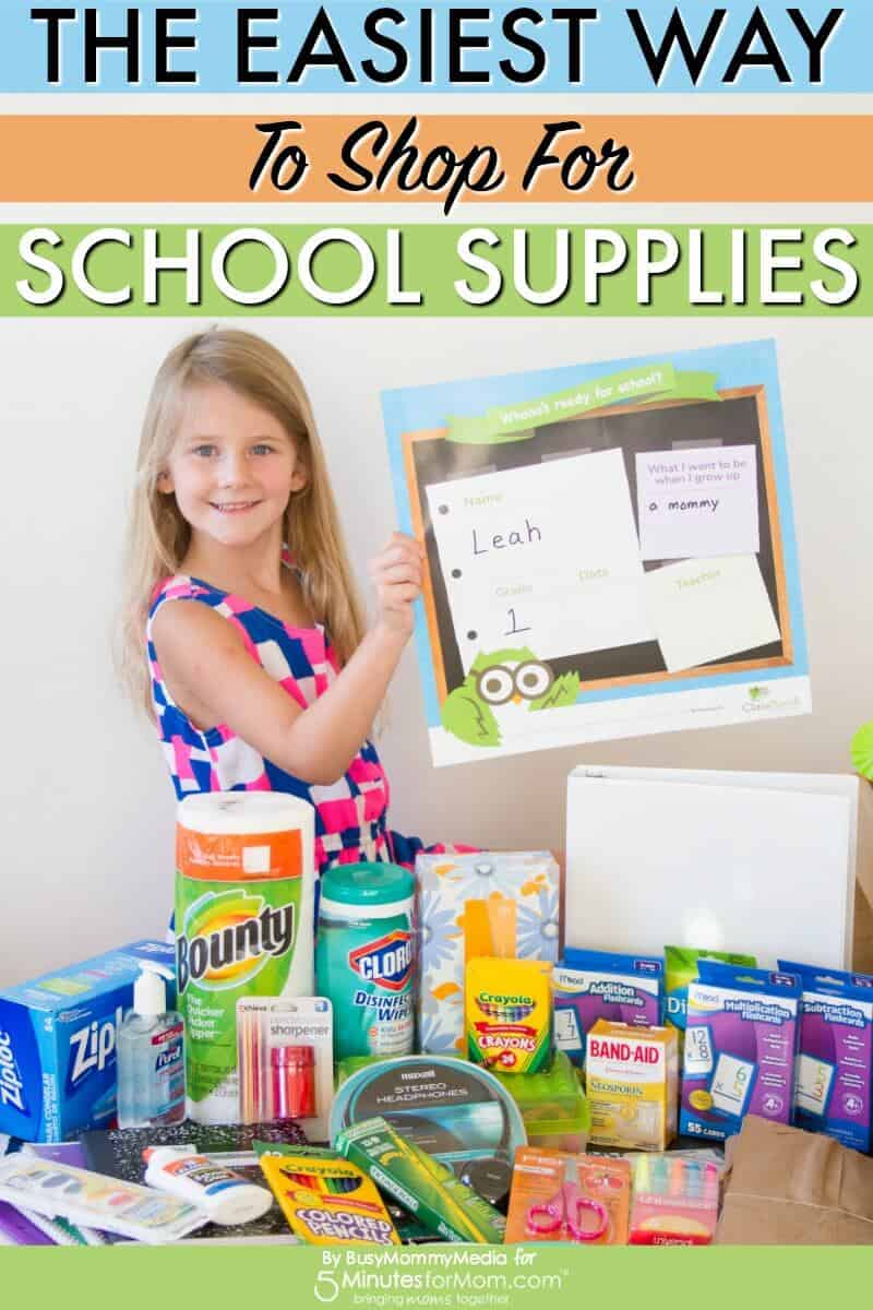 The Easiest Way To Shop For School Supplies