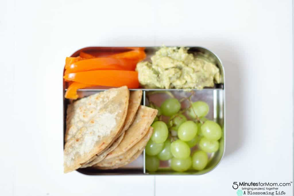 Easy School Lunches - Black Bean And Cheese Quesadilla