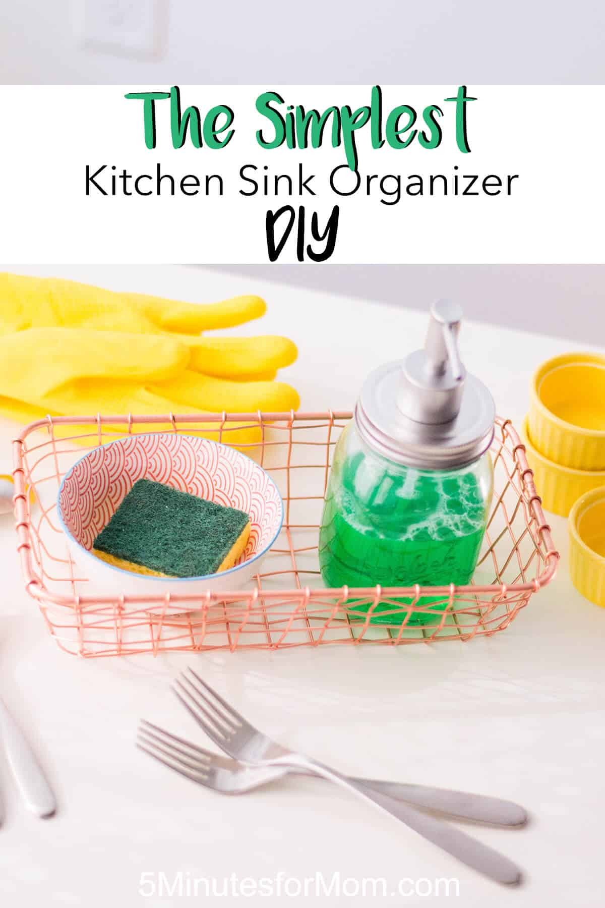 DIY Kitchen Sink Organizer - Our latest home DIY solution: a kitchen sink organizer to keep things clean, fresh, and aesthetically pleasing.