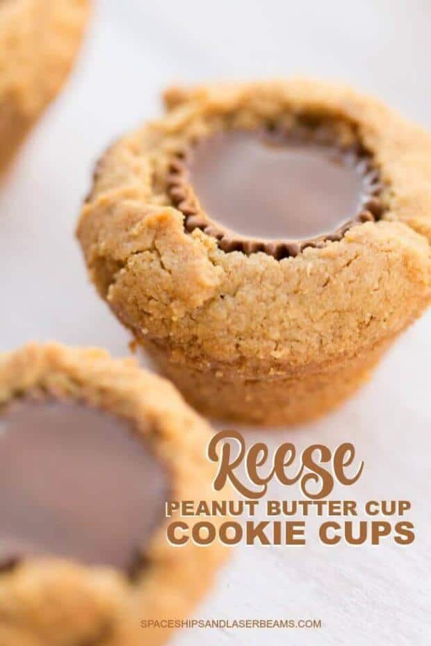 Peanut Butter Cookie Cups from Spaceships and Laserbeams - After School Snack