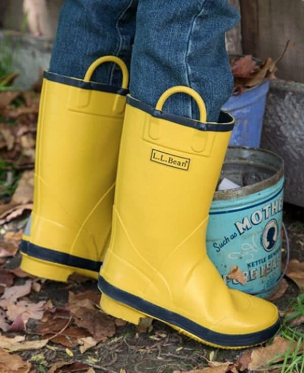 Rain boots from LL Bean