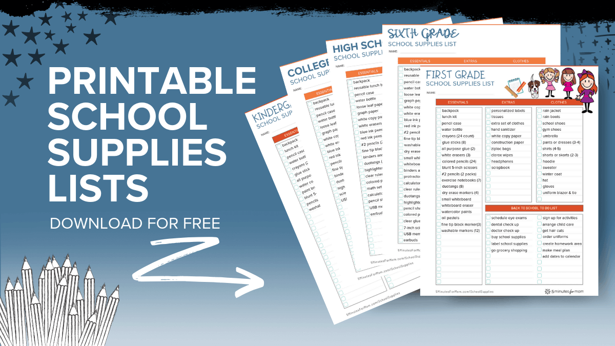 School Supplies Lists and Shopping Guide