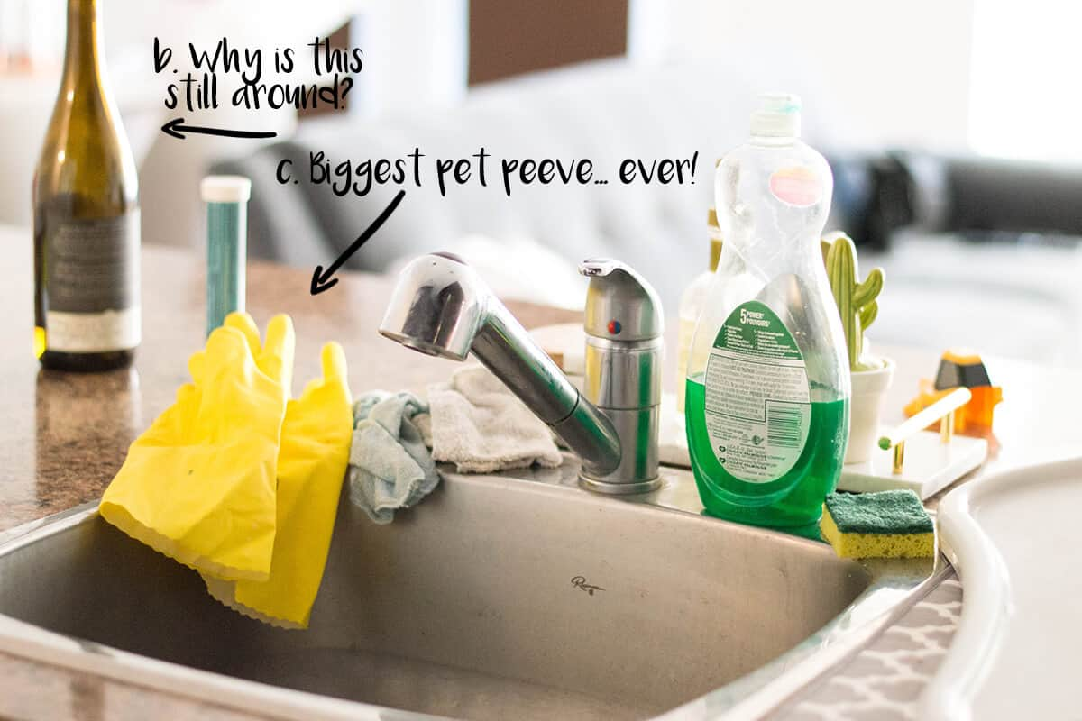 Our latest home DIY solution: a kitchen sink organizer to keep things clean, fresh, and aesthetically pleasing!