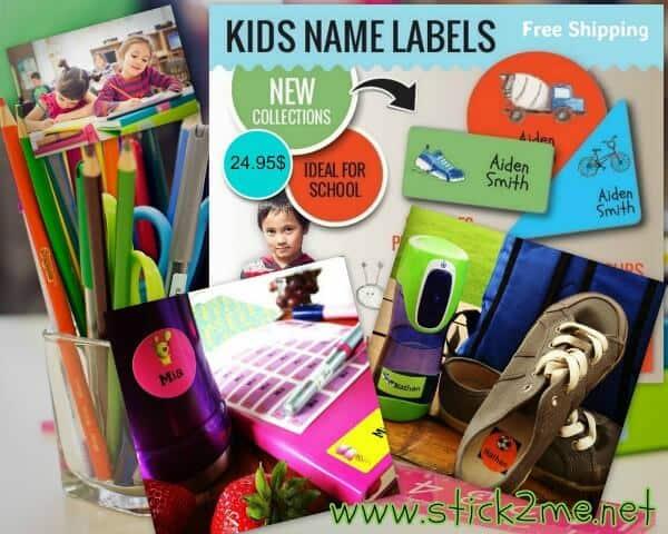 stick2me labels for kids