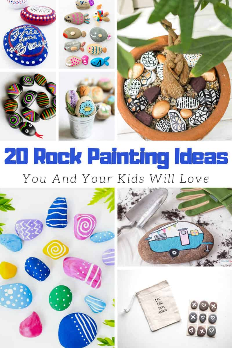 20 Easy Rock Painting Ideas You And Your Kids Will Love