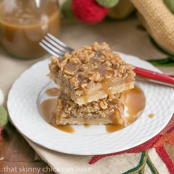 Apple Streusel Bars from That Skinny Chick Can Bake
