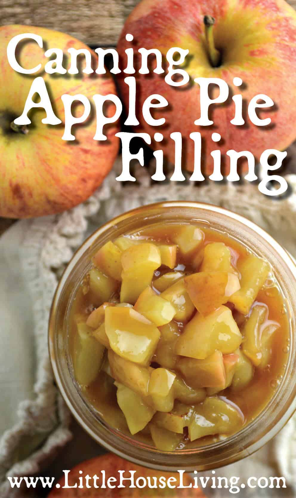 Canning Apple Pie Filling from Little House Living 2