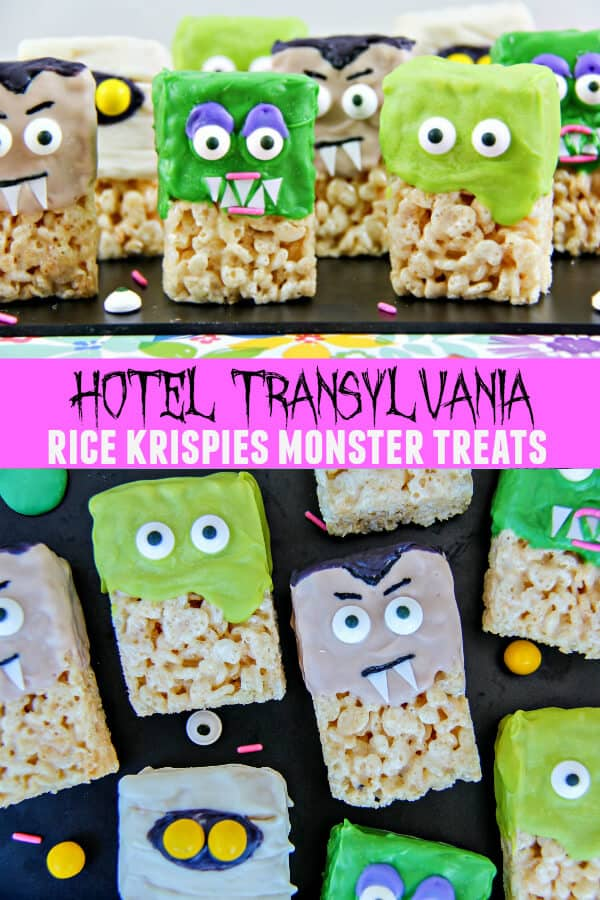 Hotel Transylvania Party Treats - Hotel Transylvania Rice Krispies Monster Treats