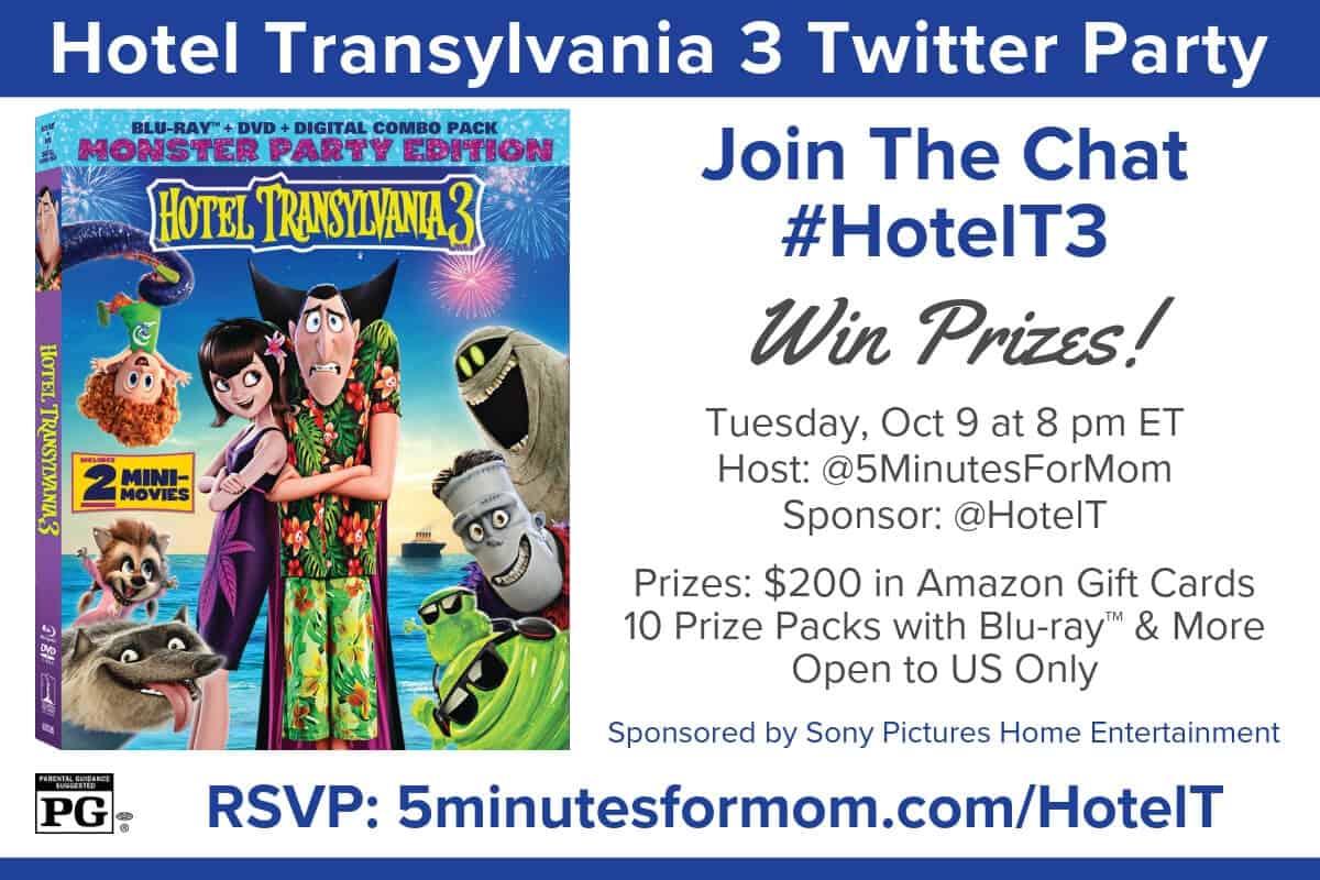 HotelT3 Hotel Transylvania 3 Twitter Party