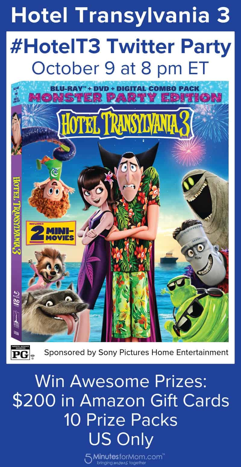 Hotel Transylvania 3 Twitter Party #HotelT3 Chat