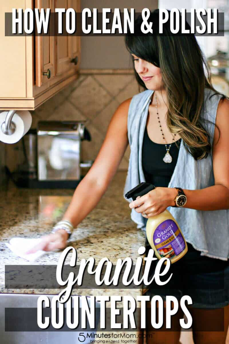 How To Clean Granite Countertops And Polish Them At The Same Time