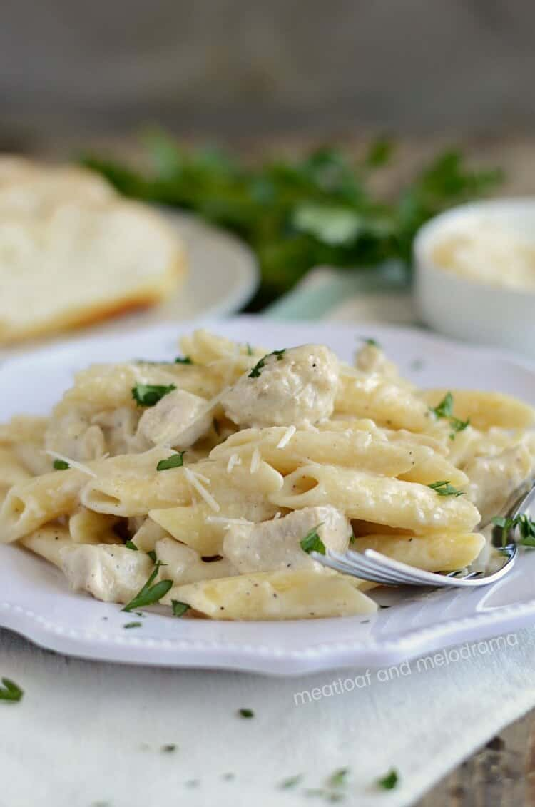 Instant Pot Chicken Alfredo from Meatloaf and Melodrama
