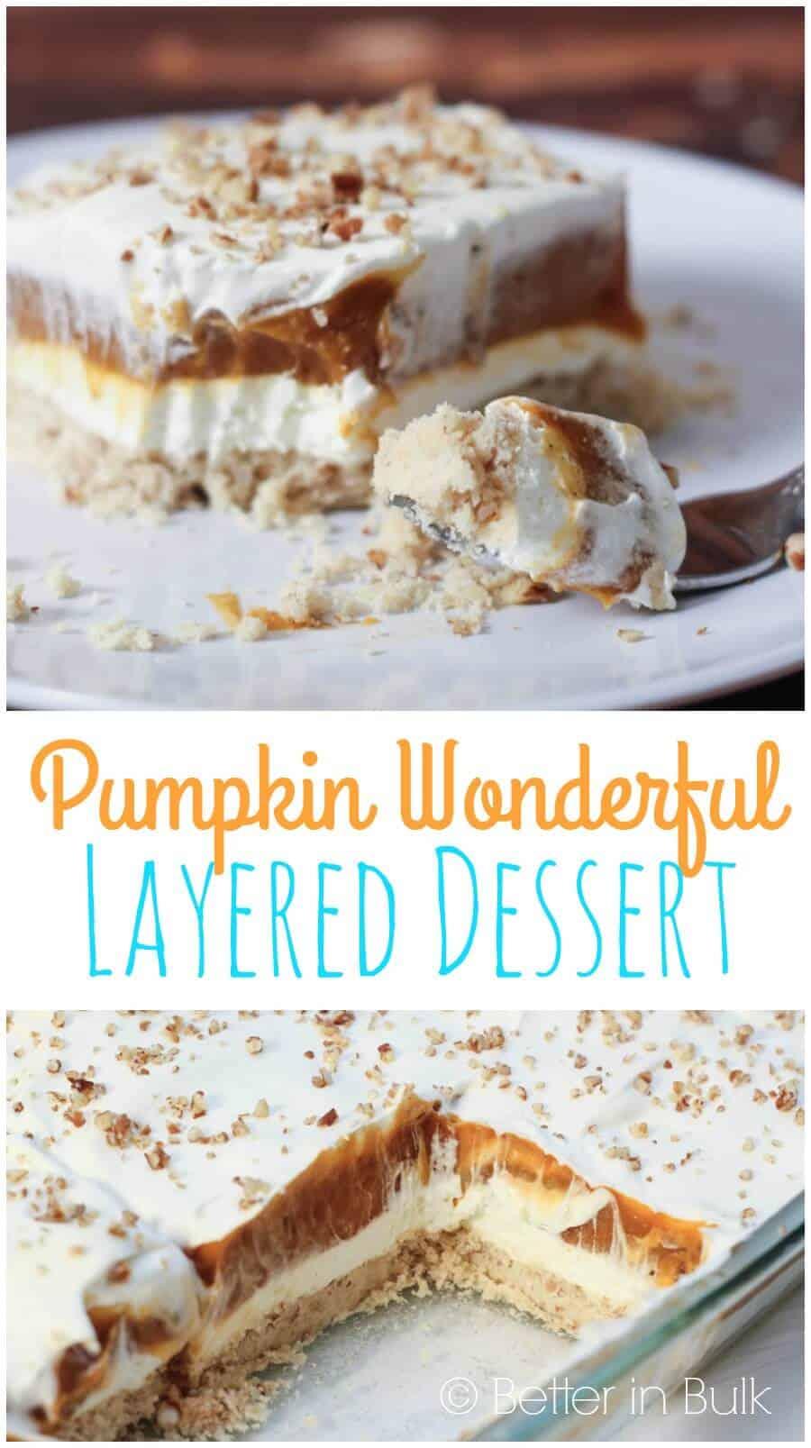 Pumpkin Wonderful layered dessert