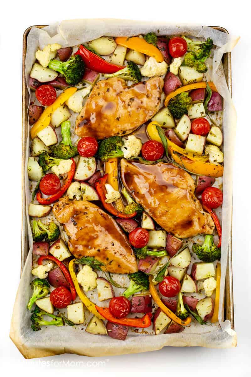 Sheet Pan Maple-Glazed Chicken