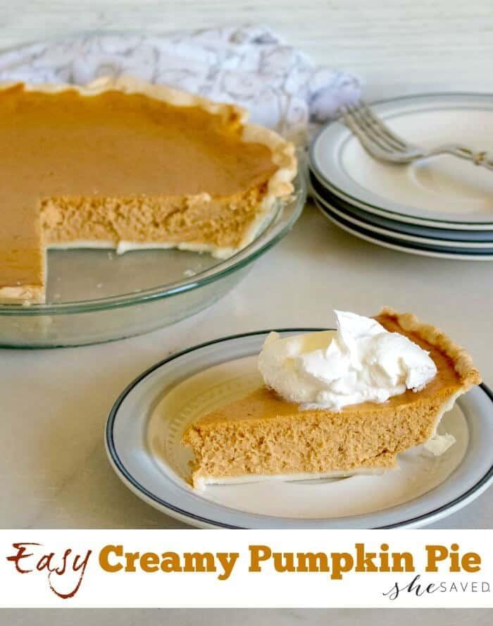 Easy creamy pumpkin pie