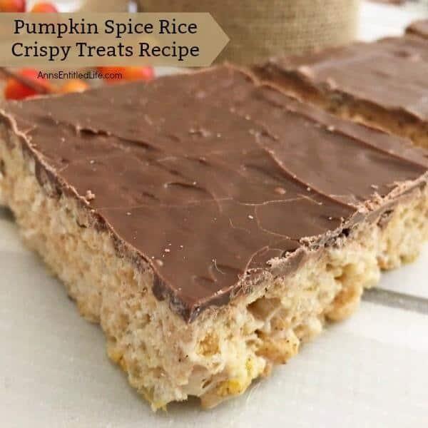 Pumpkin spice rice crispy treats