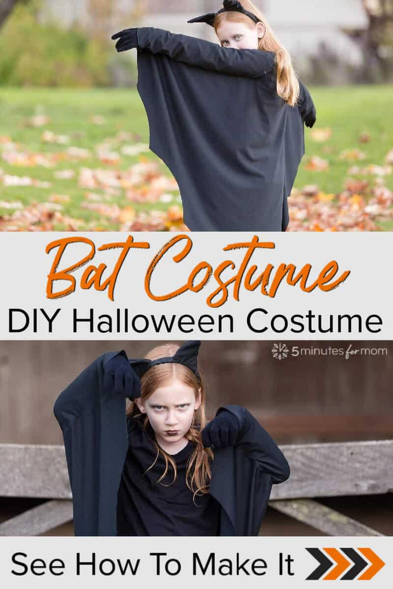 Bat Costume - DIY Halloween Costume For Kids - Easy to Make