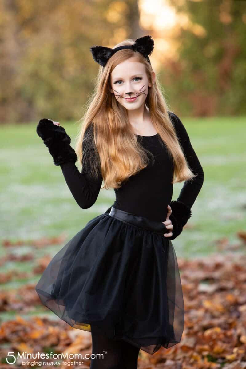 DIY Black Cat Costume for Teens