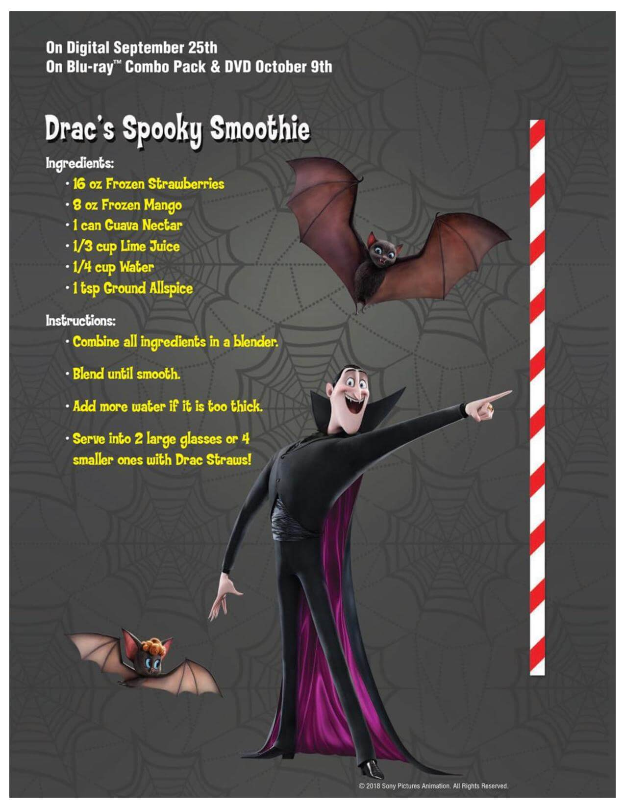 Dracu Straws Smoothie Recipe