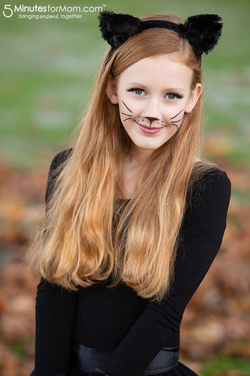 Cat Costume Makeup #CatCostume #BlackCatCostume