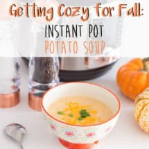 Instant Pot Potato Soup - Quick and Easy Recipe #instantpot #potatosoup