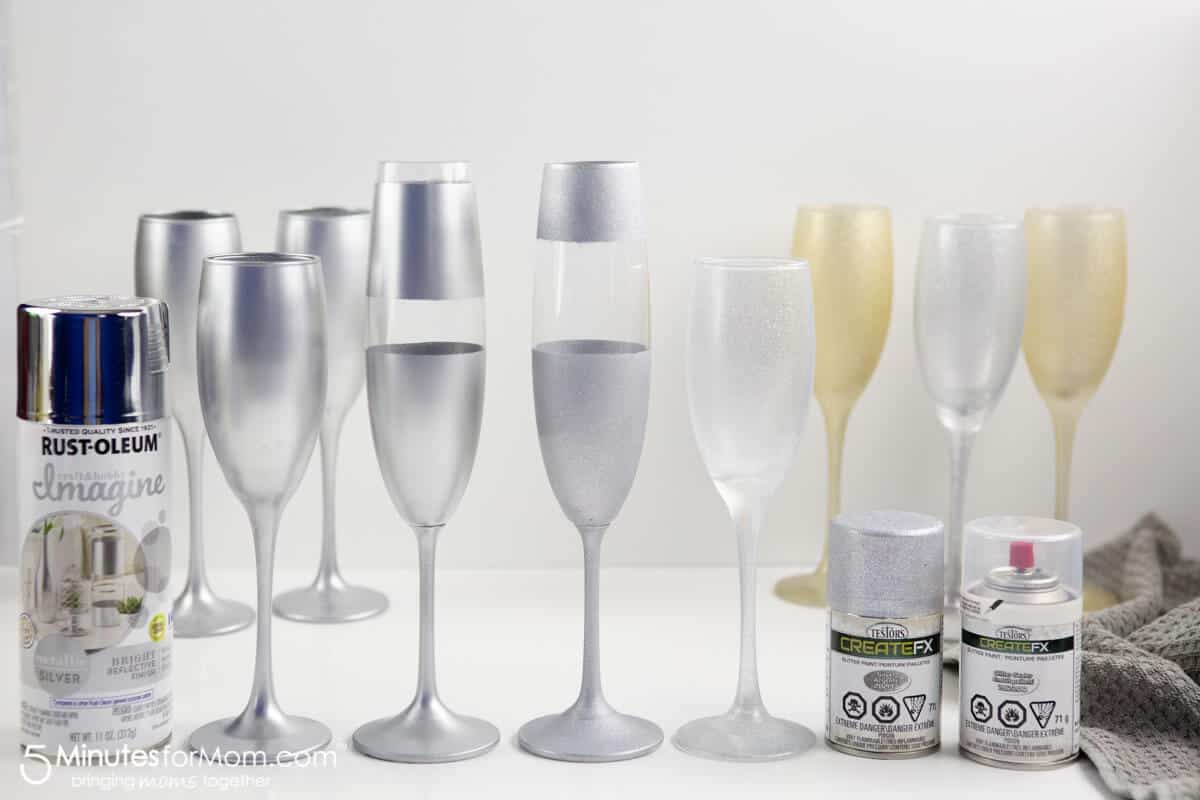 How to paint decorative champagne glasses