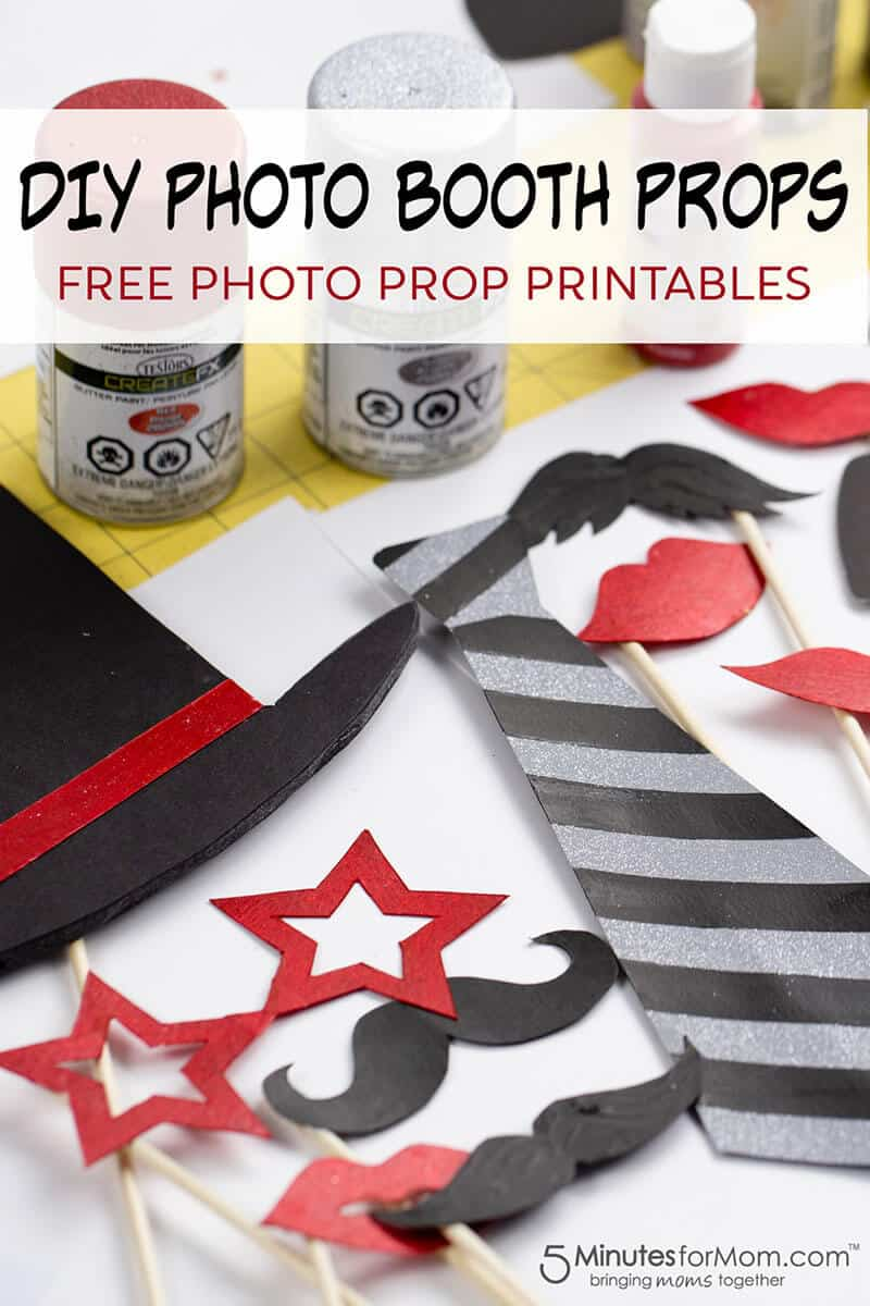 DIY Photo Booth Props with free printables
