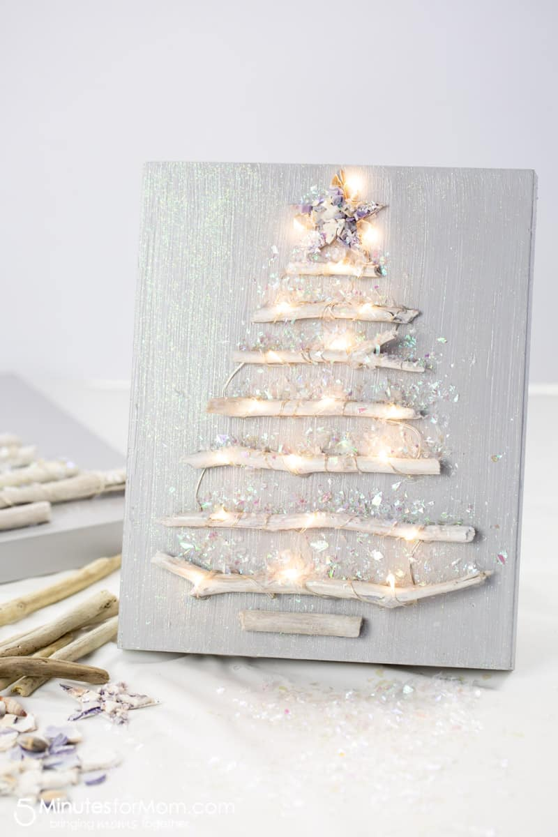 Driftwood Christmas Tree Craft