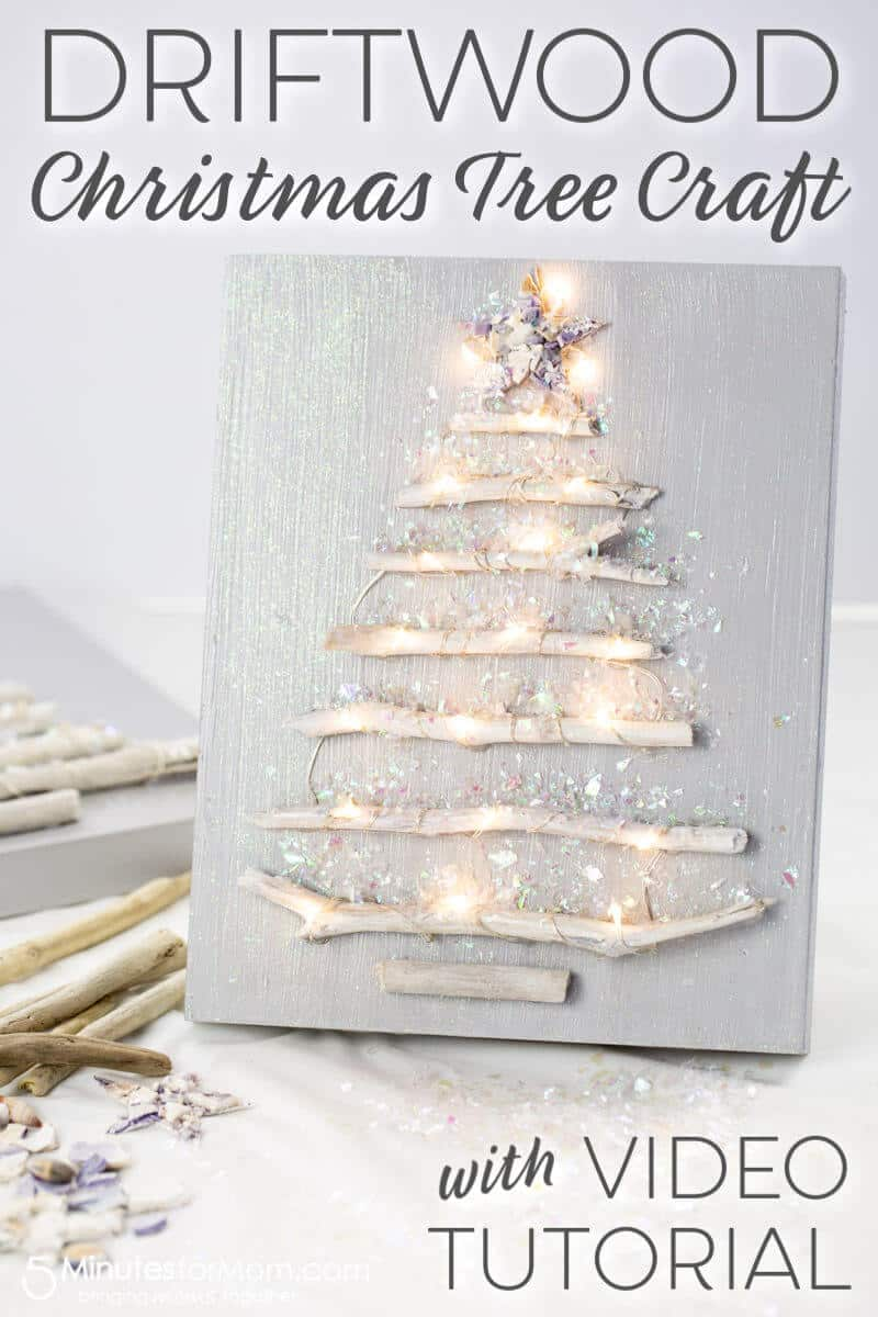Driftwood Christmas Tree Craft with Video Tutorial