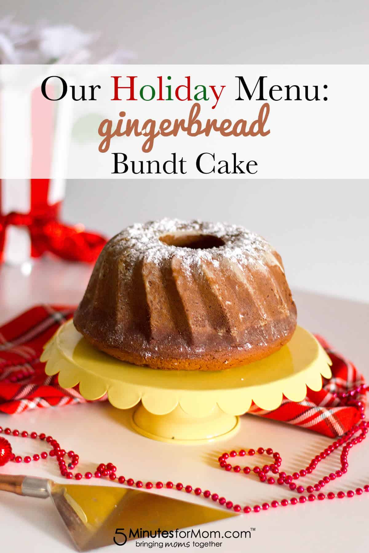 Giving a holiday favourite a creative twist with this homemade, from scratch Gingerbread Bundt Cake.