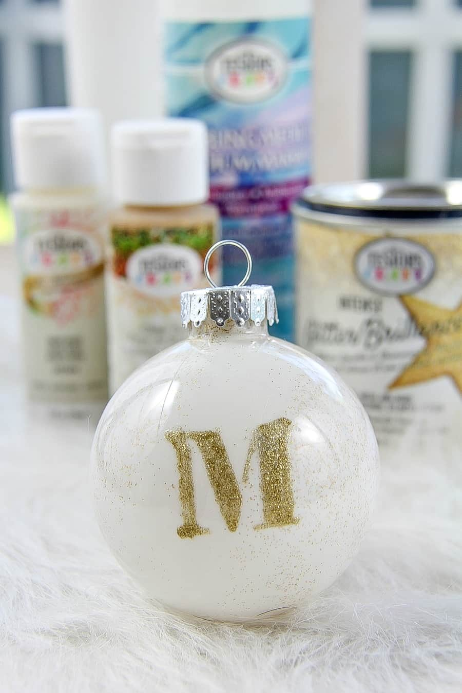 How To Paint Stenciled Christmas Ornaments